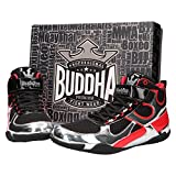 Buddha Fight Wear Zapatos de Boxeo One Negro-Plata
