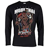 Rule Out Artes Marciales Camiseta de Manga Larga. Muay Thai. Thailand. Full Contact. Hombre...